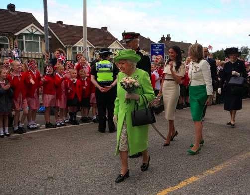 Meghan e la regina a Chester