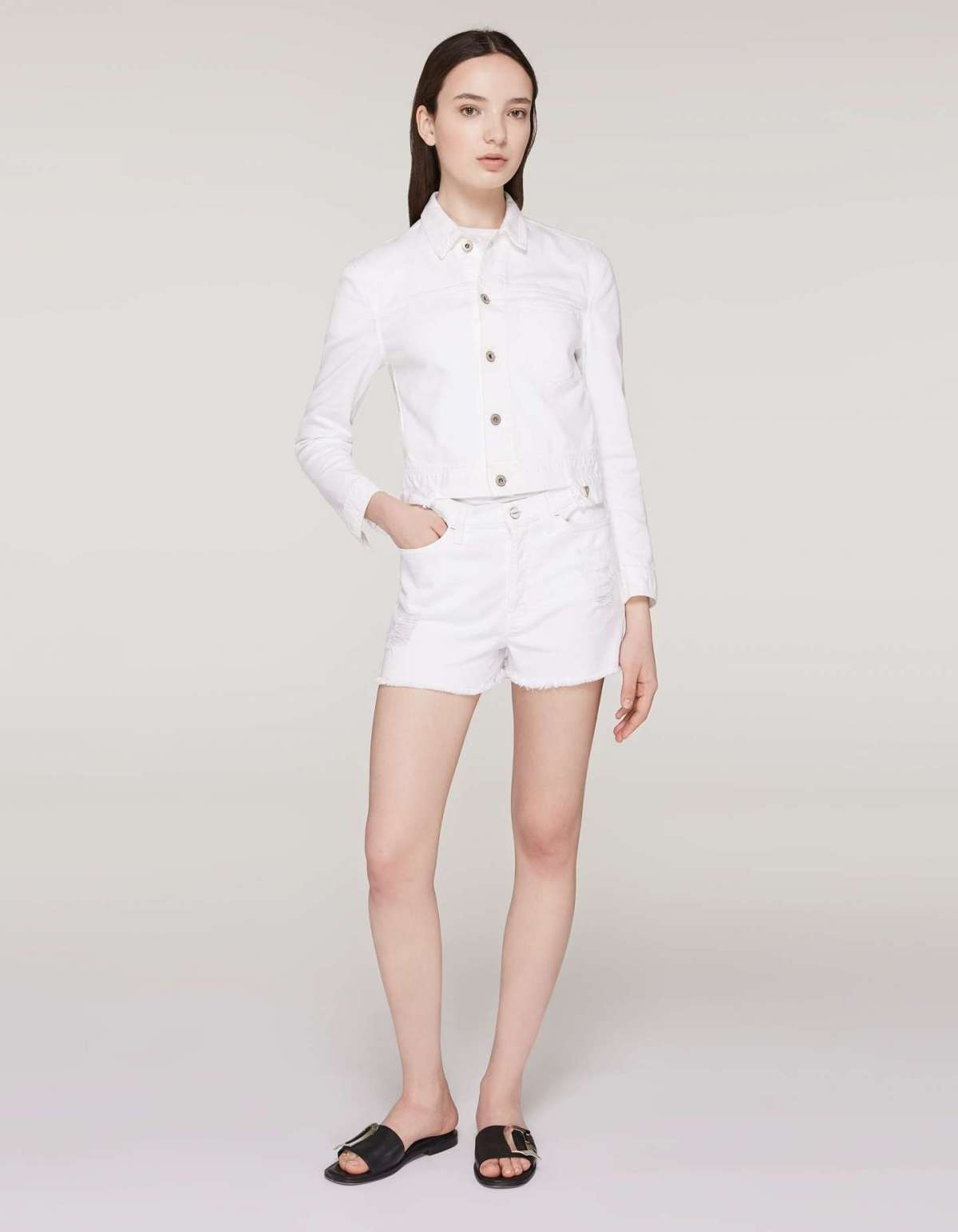 Shorts bianchi in cotone Dondup