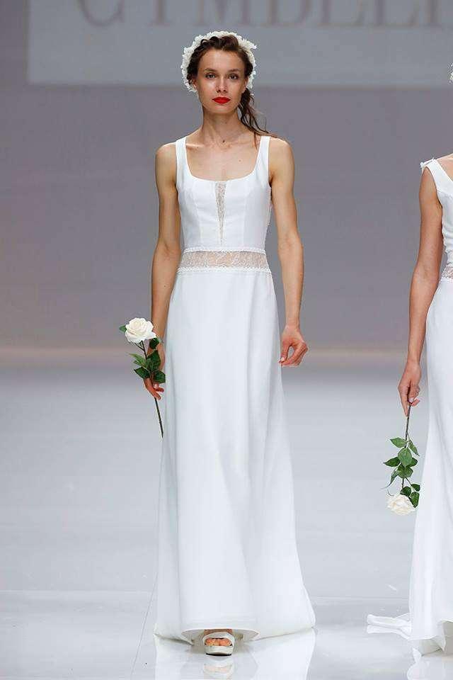 Vestito da sposa con effetto crop top Cymbeline