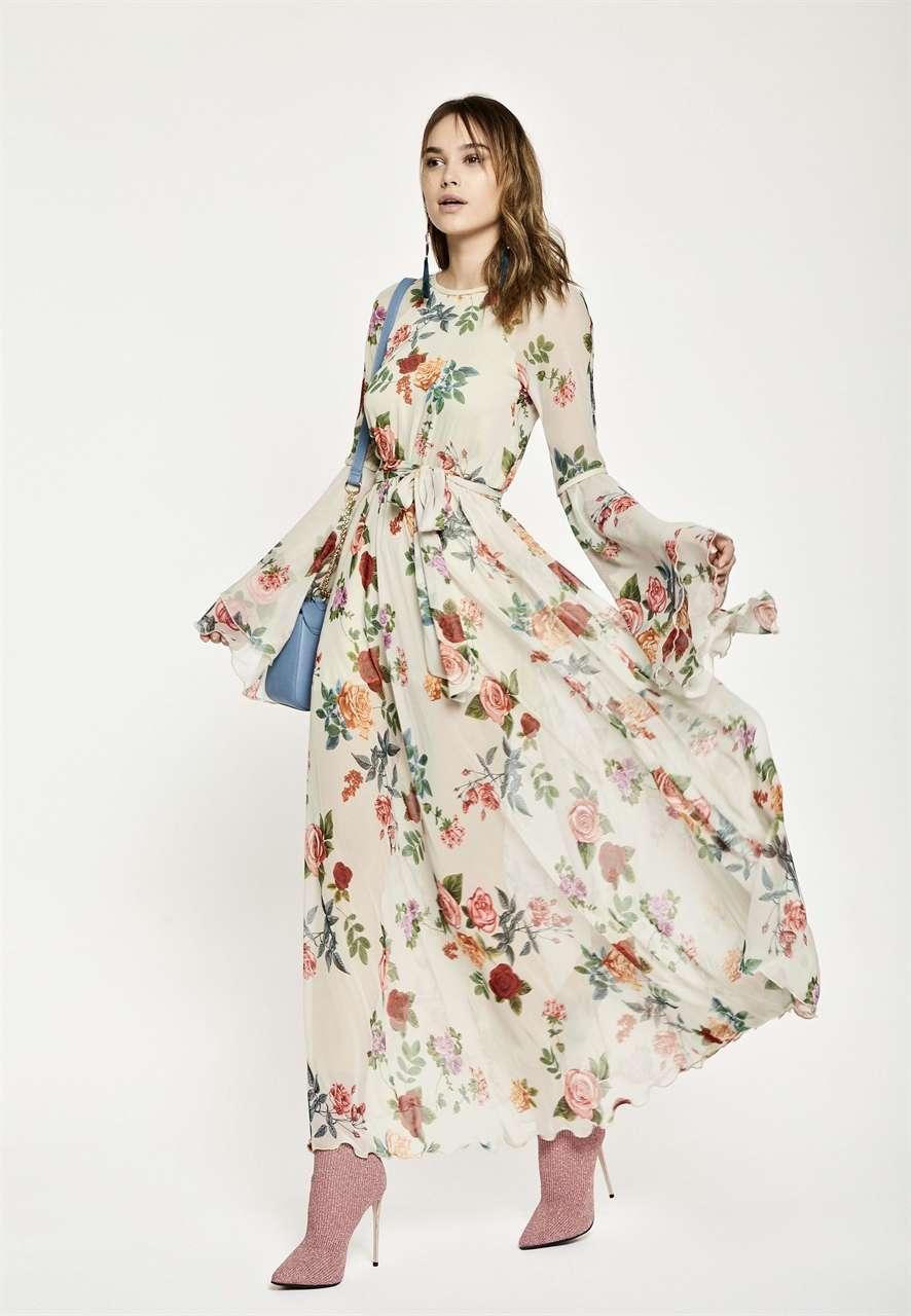 Vestito lungo a fiori Denny Rose