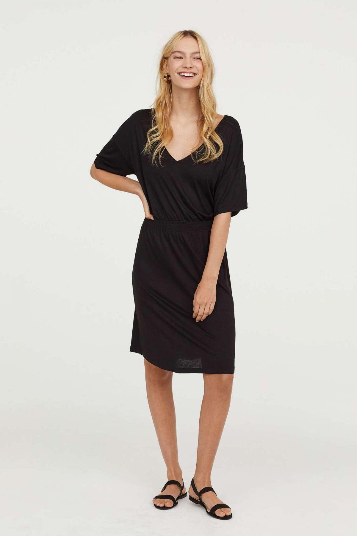 Vestito nero sul ginocchio H&M