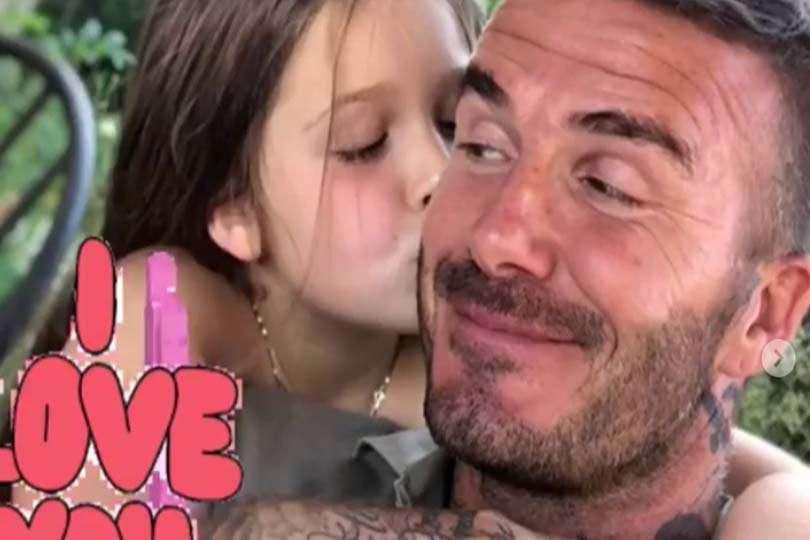 Dolci baci per David Beckham