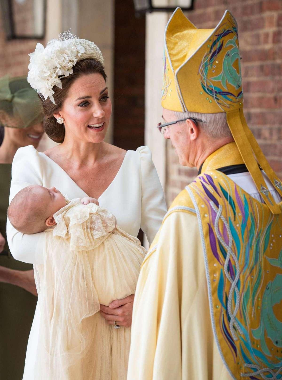 La Duchessa di Cambridge e l'arcivescovo di Canterbury