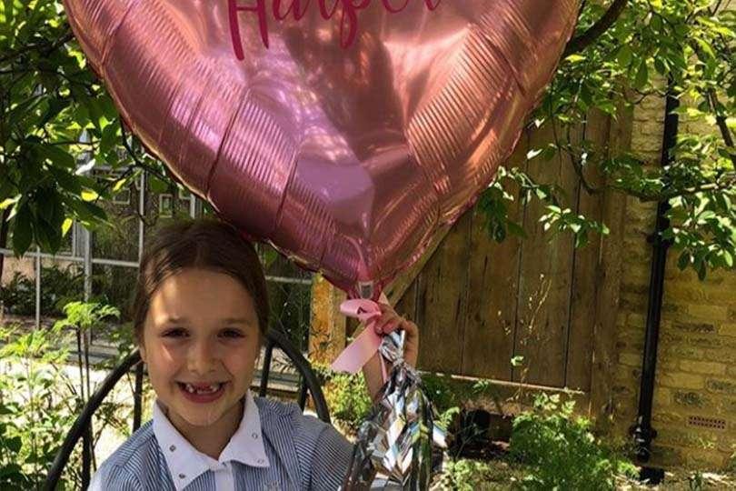 Palloncini per la piccola di casa Beckham