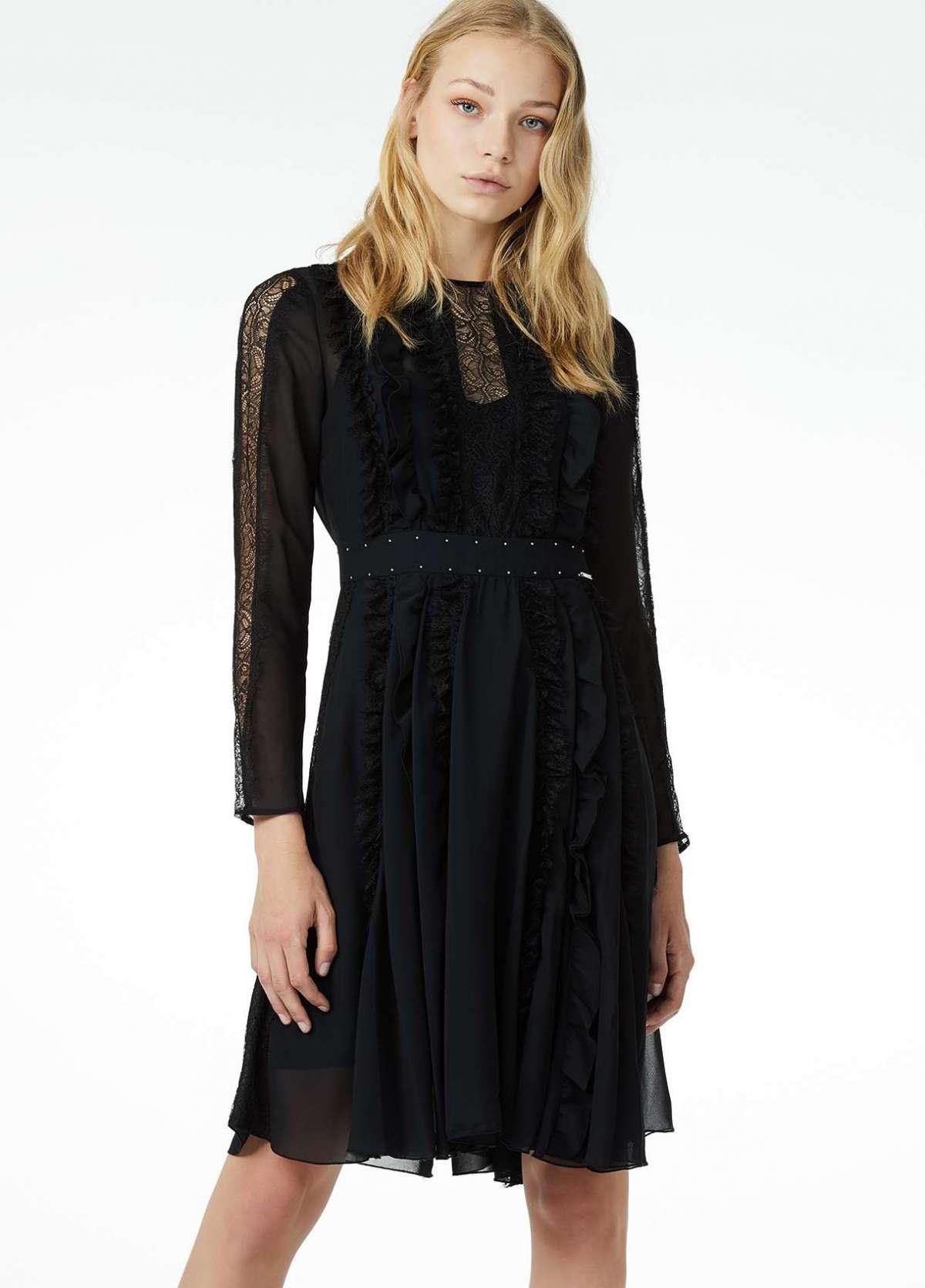 Vestito corto nero in pizzo Liu Jo a 239 euro