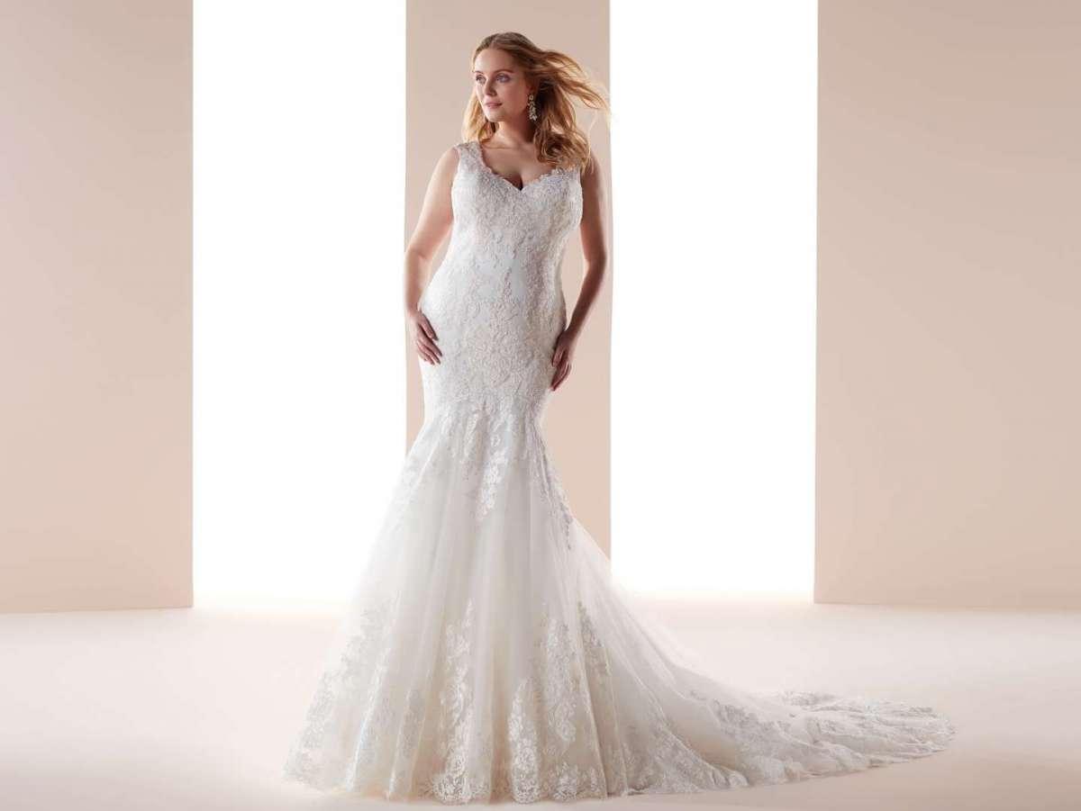 Vestito da sposa a sirena per donne formose Nicole Lovely Wedding Curves