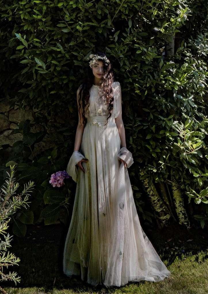 Abito da sposa plissè Elisabetta Delogu