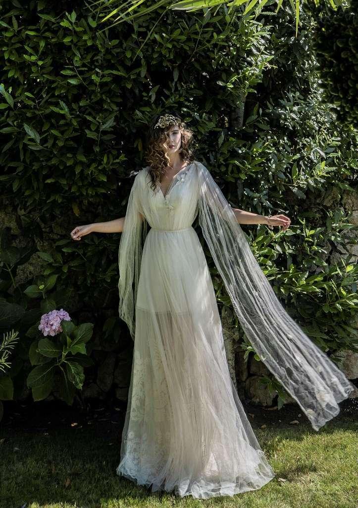 Abito da sposa plissettato Elisabetta Delogu