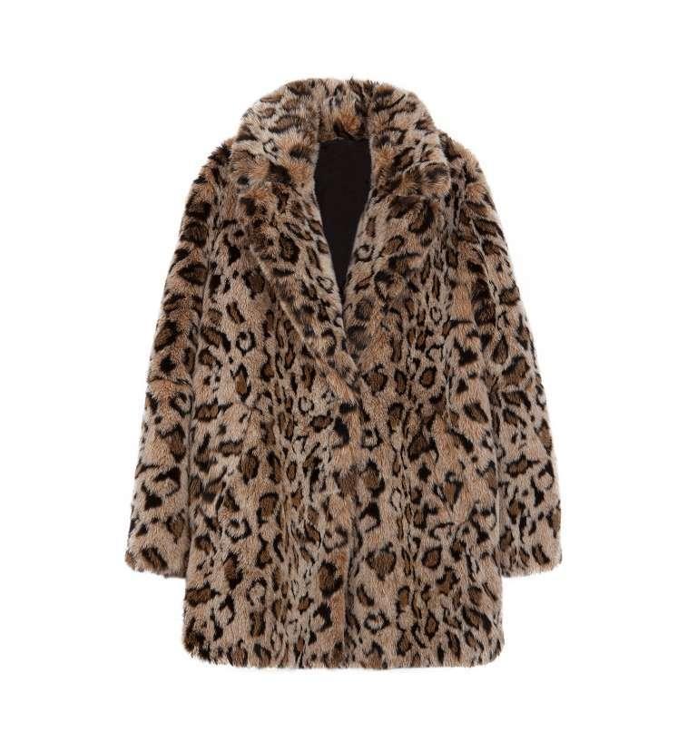 Cappotto in pelliccia ecologica Bershka