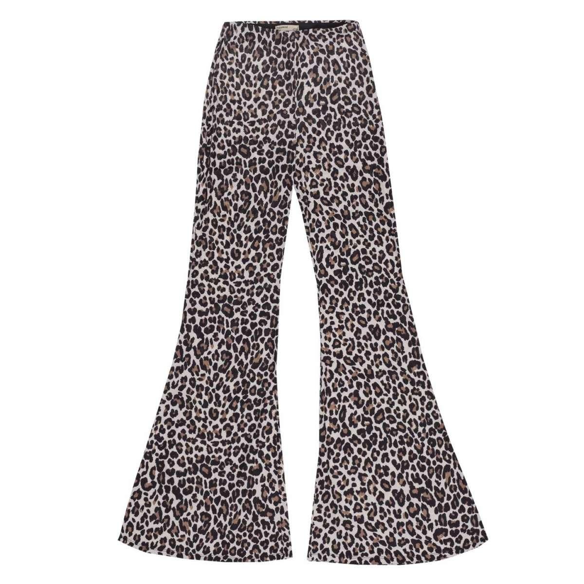 Pantaloni a zampa animalier Pull and Bear