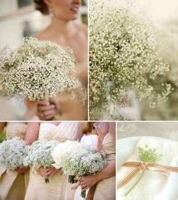 Bouquet particolare bianco