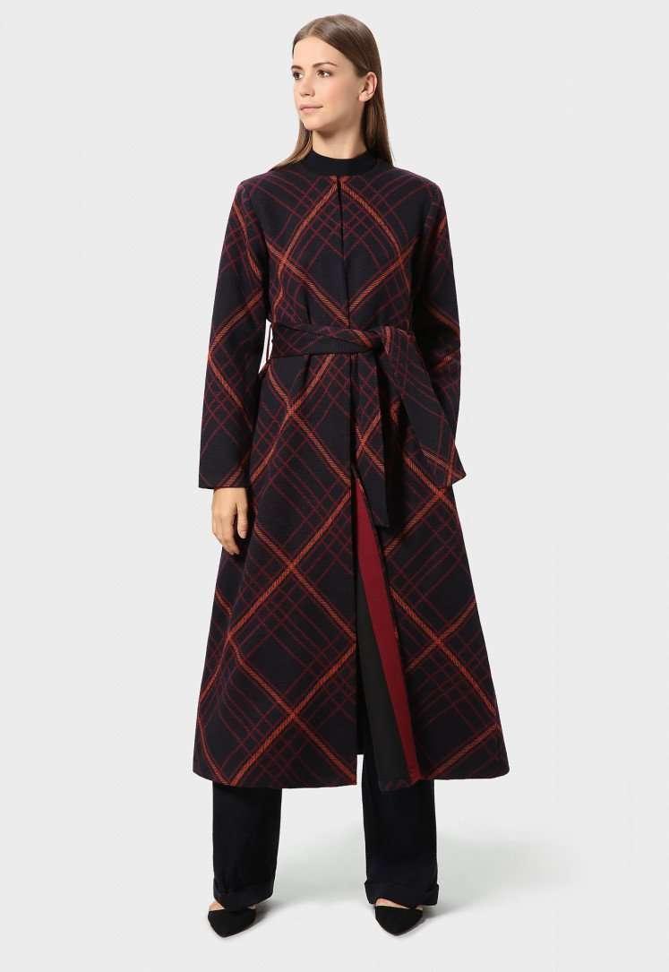 Cappotto lungo Stefanel a quadri a 330 euro