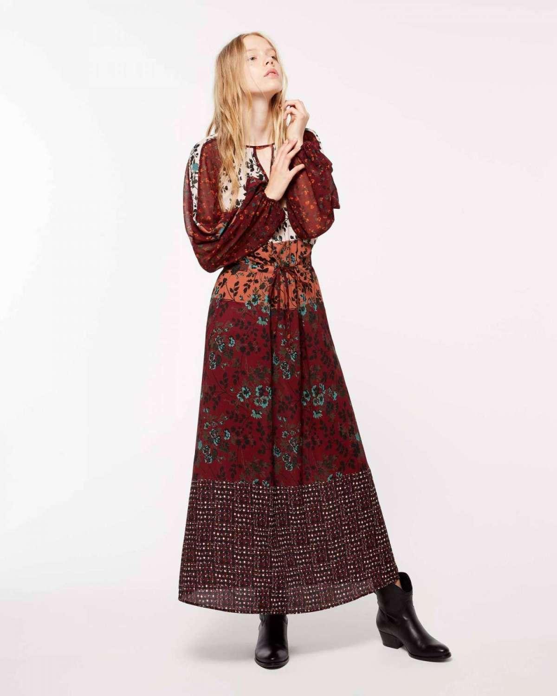 Vestito lungo stile etnico Sisley a 129 euro