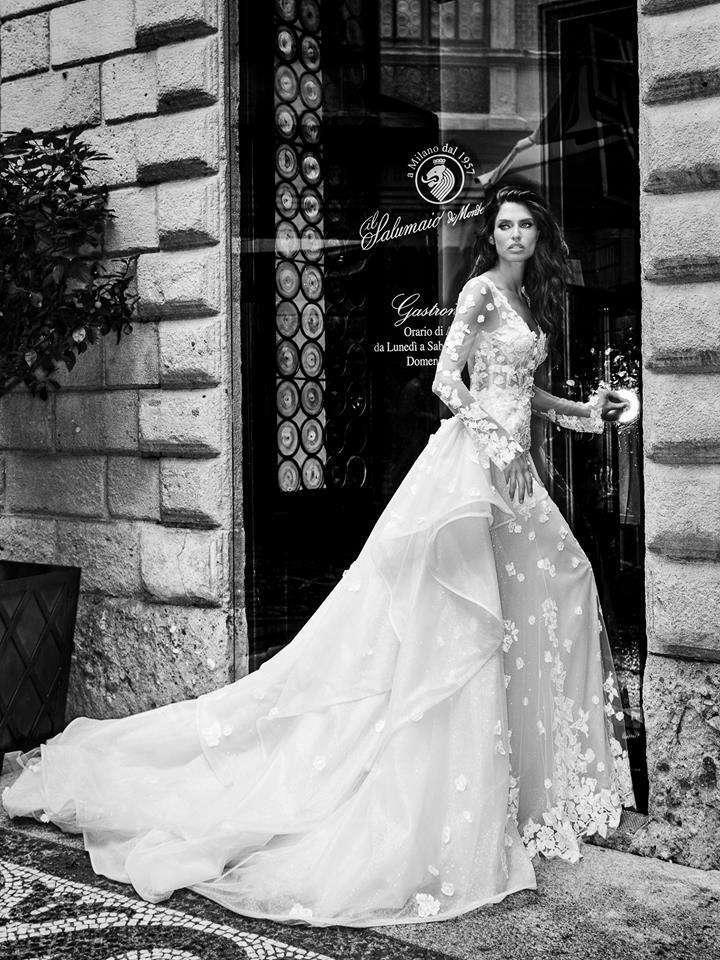 Abito da sposa da principessa in pizzo Alessandro Angelozzi Couture