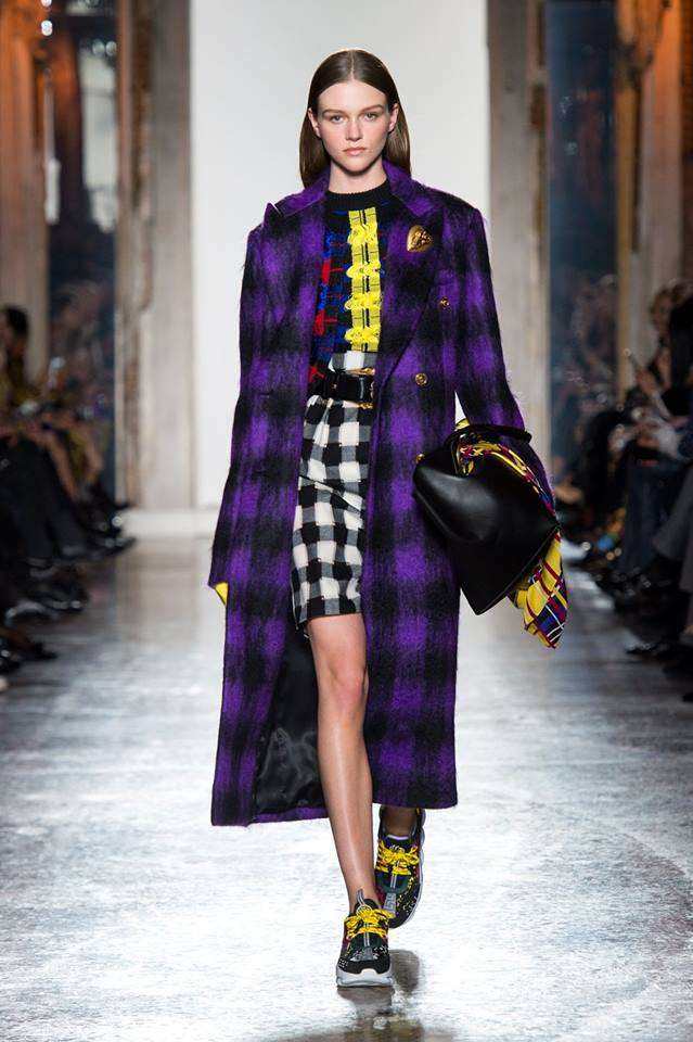 Cappotto tartan Versace