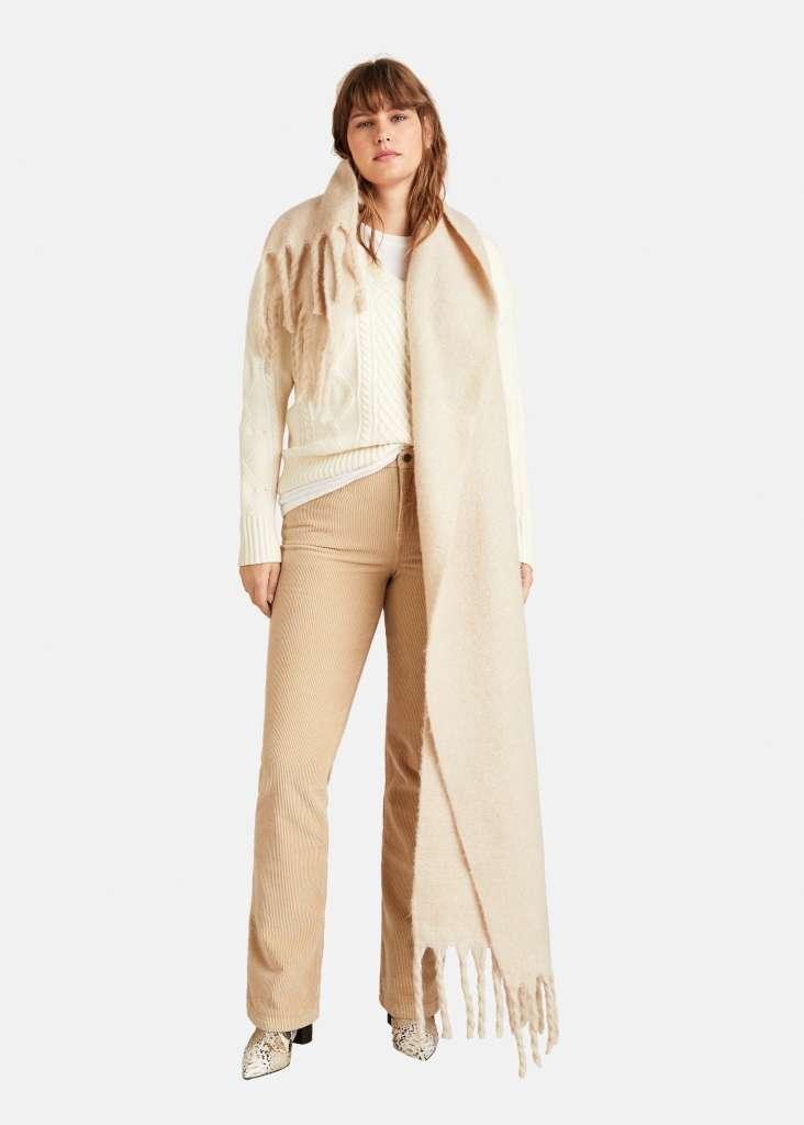 Pantaloni beige Violeta by Mango