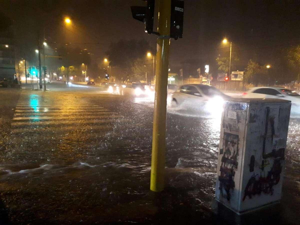 Tempesta di grandine a Roma