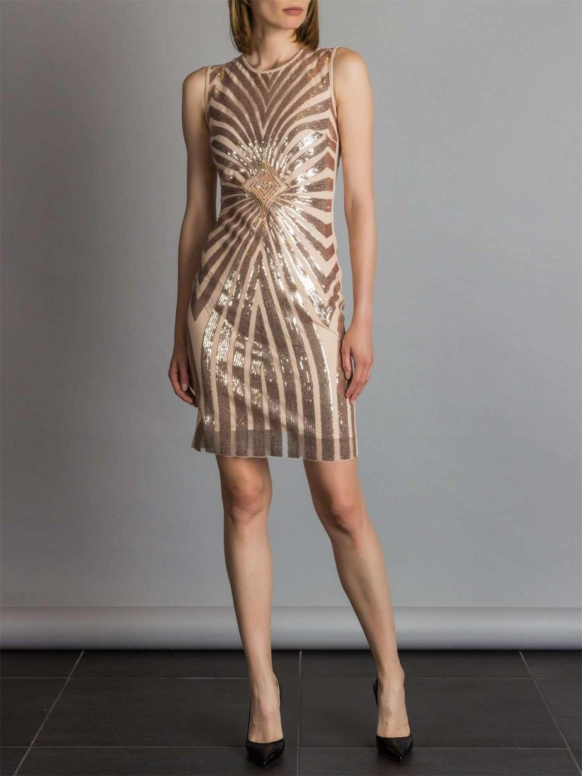 Vestito corto a tubino oro Rinascimento a 119 euro