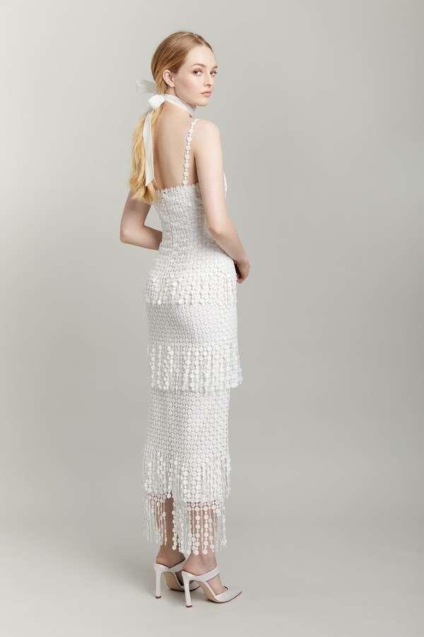 Vestito da sposa corto con perline Lela Rose