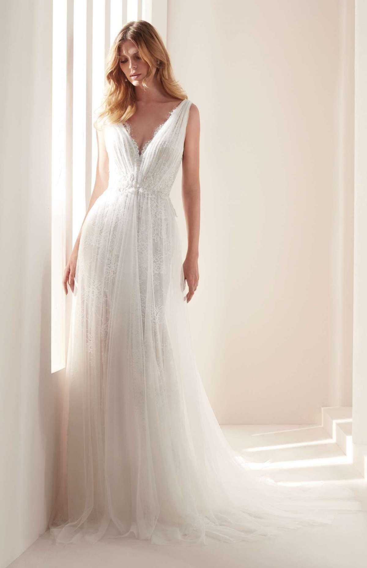 Vestito da sposa plissé scivolato Hannibal Laguna