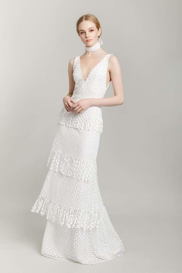 Vestito da sposa scivolato a balze Lela Rose