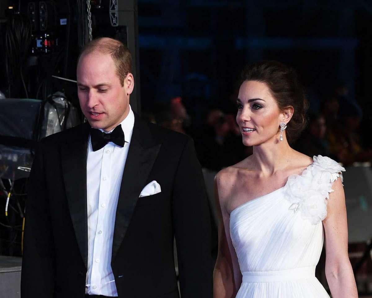 Il principe William e Kate Middleton ai BAFTA 2019