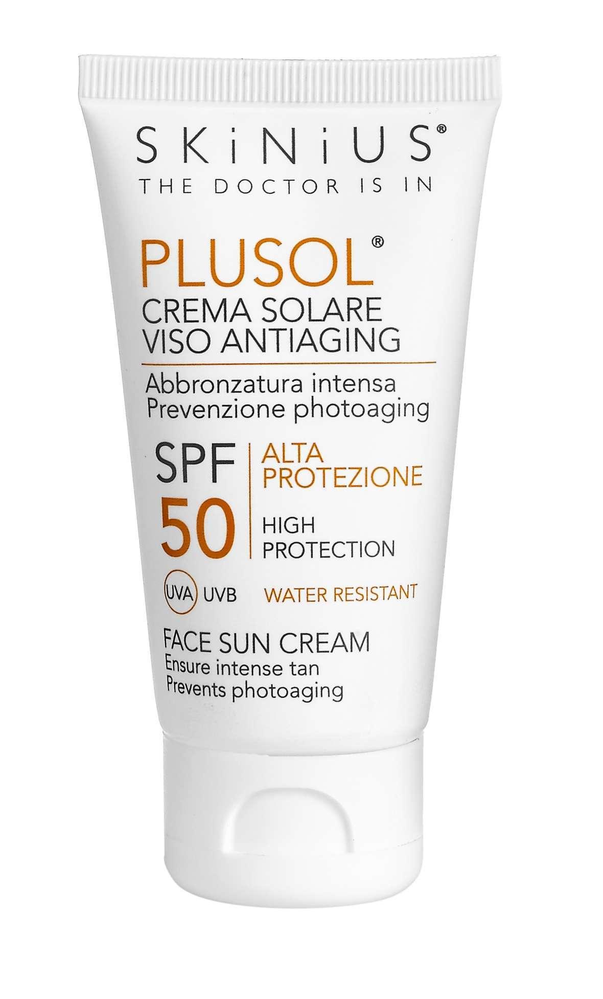 Skinius PLUSOL crema solare viso
