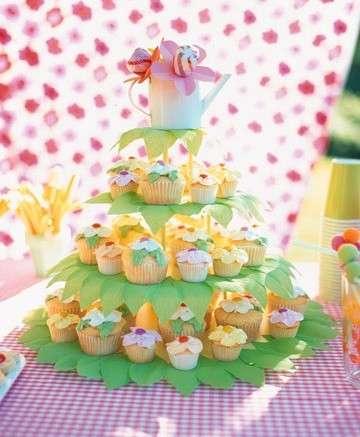 Torta di compleanno cupcakes