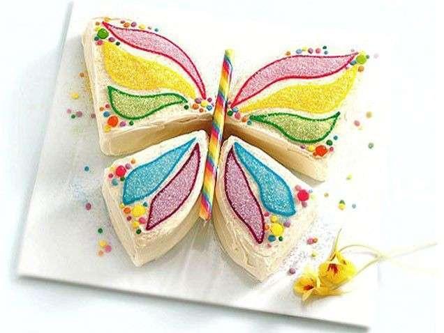 Torta di compleanno farfalla