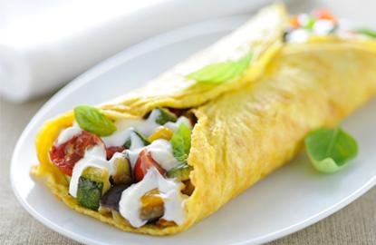omelette con philadelphia