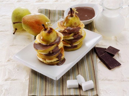 pancakes.pere cioccolato