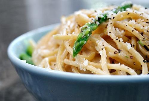 pasta con asparagi in versione light
