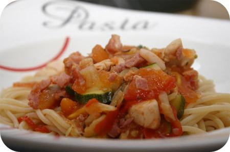 pasta pollo zucchine
