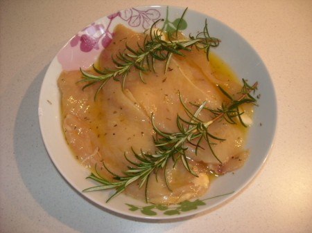 Petto di pollo marinato