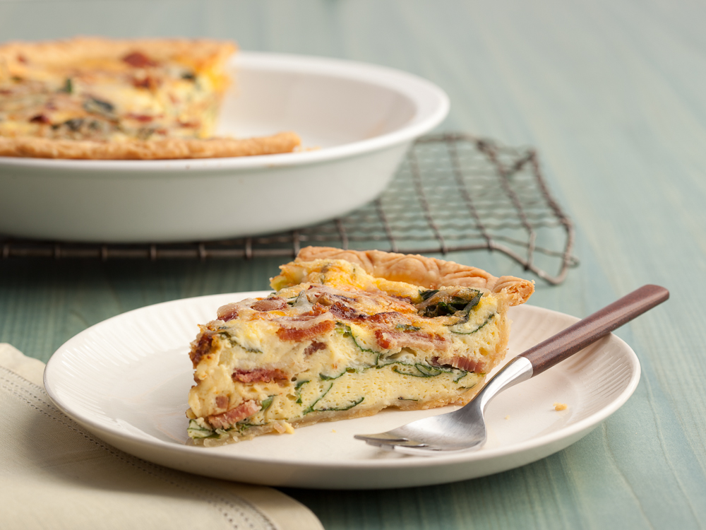 Spinach and Bacon Quiche: Paula Deen