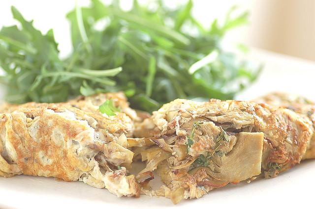 ricetta omelette di carciofi