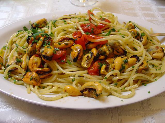 ricetta spaghetti con cozze