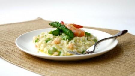 risotto asparagi gamberi