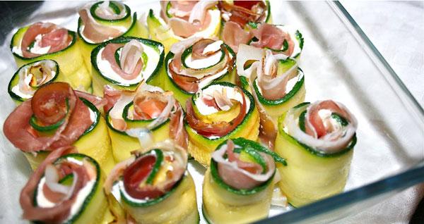 rolls zucchine prosciutto e certosa