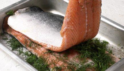 salmone marinato.ricetta