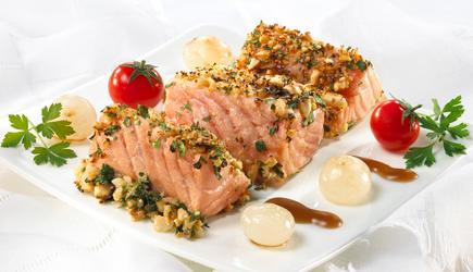 salmone norvegese in crosta