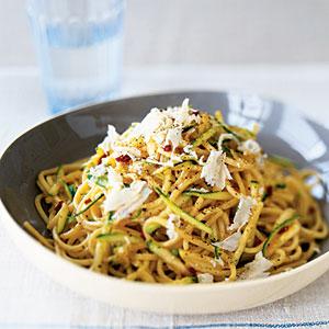 spaghetti con le zucchine saporite