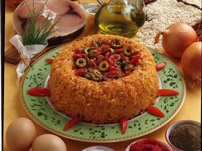 timballo di riso rosso