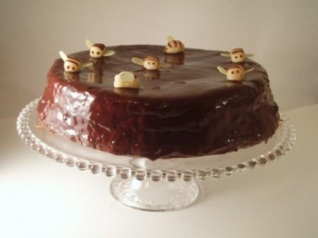 torta al cioccolato con glassa