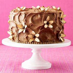 torta cioccolato fiori di mandorle