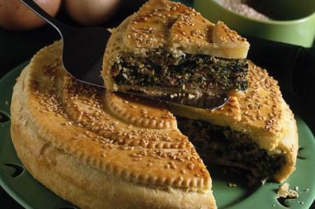 torta cotechino e spinaci