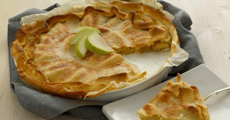 torta di mele e zenzero in pasta brisè