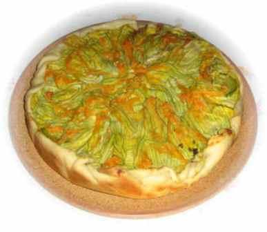 torta fiori di zucchina