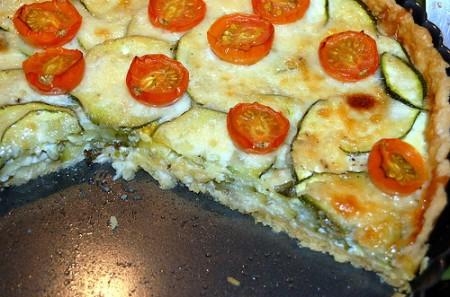 tortino di zucchine e pomodorini