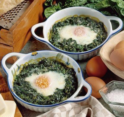 uova cocotte con spinaci